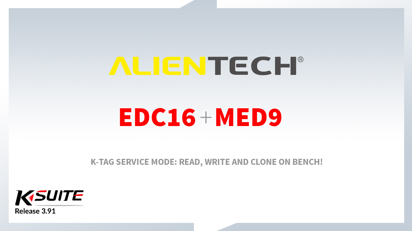 K-TAG: Bosch EDC16 and MED9 in Service Mode
